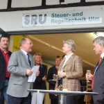 Jürgen Seitz, Reinhold Eberhardt, Bundesministerin Annette Schavan, OB Günther Mack