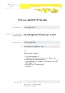Grundlagentraining Coach 2.00 / Seitz