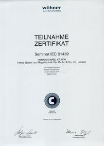 Seminar zur IEC 61439 / Krach