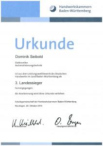 Kammer- und 3. Landessieger Dominik Seibold